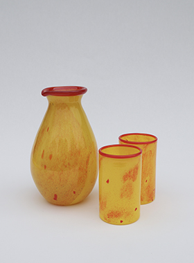 gul rød mugge m glass